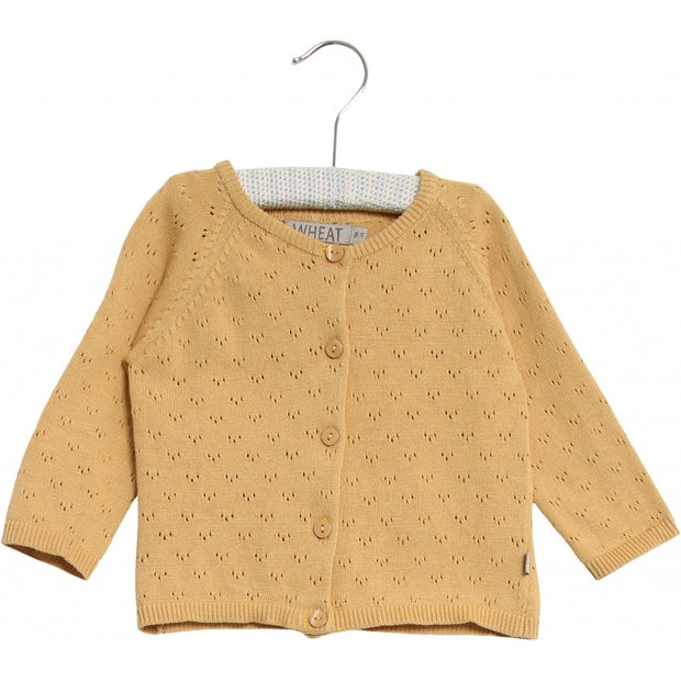 Wheat Strik Cardigan Maja Knitted Tops 5400 new wheat