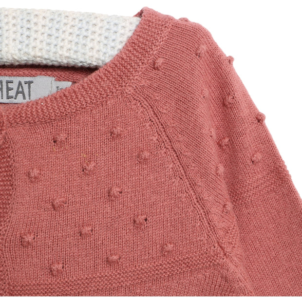 Wheat Strik Cardigan Olefine Knitted Tops 2531 rouge