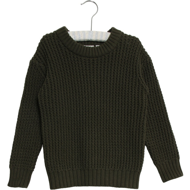Wheat Strik Pullover Charlie Knitted Tops 4064 dark army
