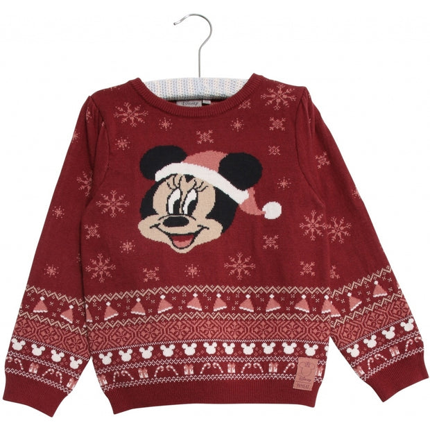 Disney/Marvel Strik Pullover Minnie Mouse Knitted Tops 2105 burgundy