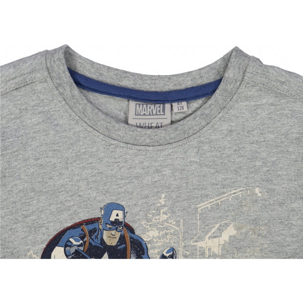 Disney/Marvel T-Shirt Captain America Jersey Tops and T-Shirts 0224 melange grey