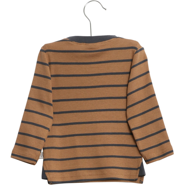 Wheat T-Shirt Frede Jersey Tops and T-Shirts 5073 caramel