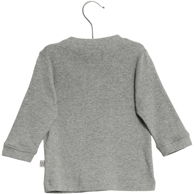 Wheat T-Shirt Ræv Jersey Tops and T-Shirts 0224 melange grey