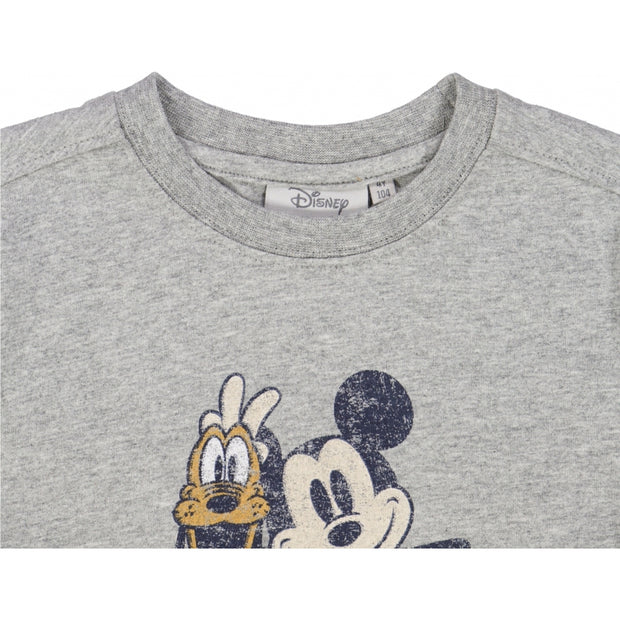 Disney/Marvel T-shirt Mickey & Pluto Jersey Tops and T-Shirts 0224 melange grey