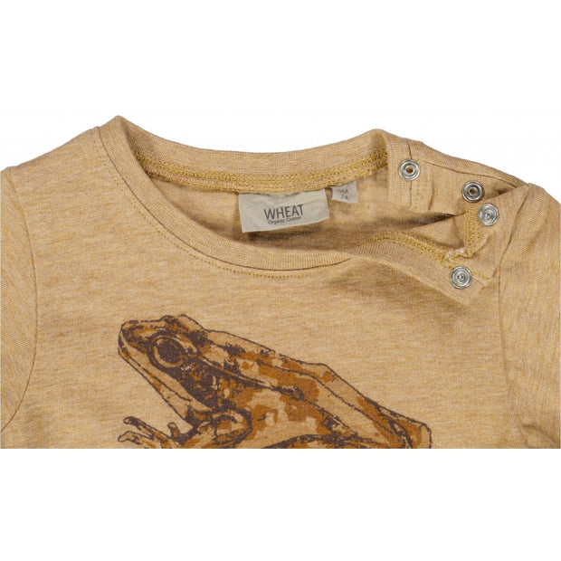 Wheat T-shirt Tudse Jersey Tops and T-Shirts 3233 warm melange