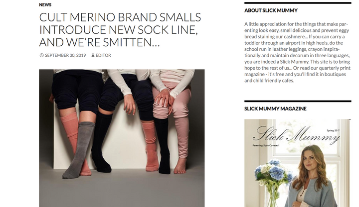 Slick Mummy introduces Smalls new sock line