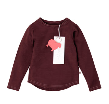 The Best Long Sleeve Tee in Berry Marle