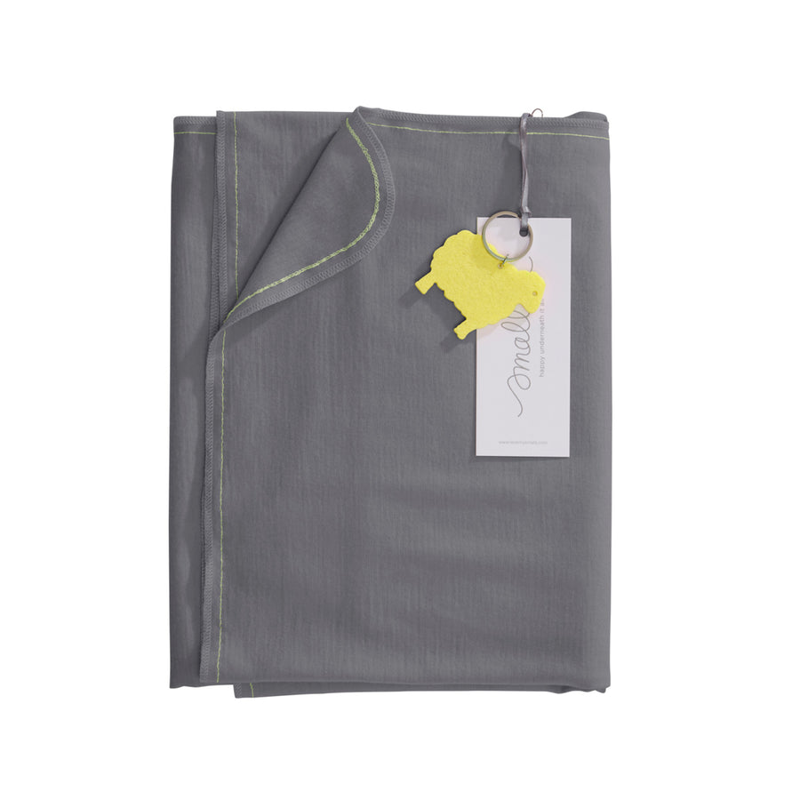 Aroha Swaddle in Grey Yellow
