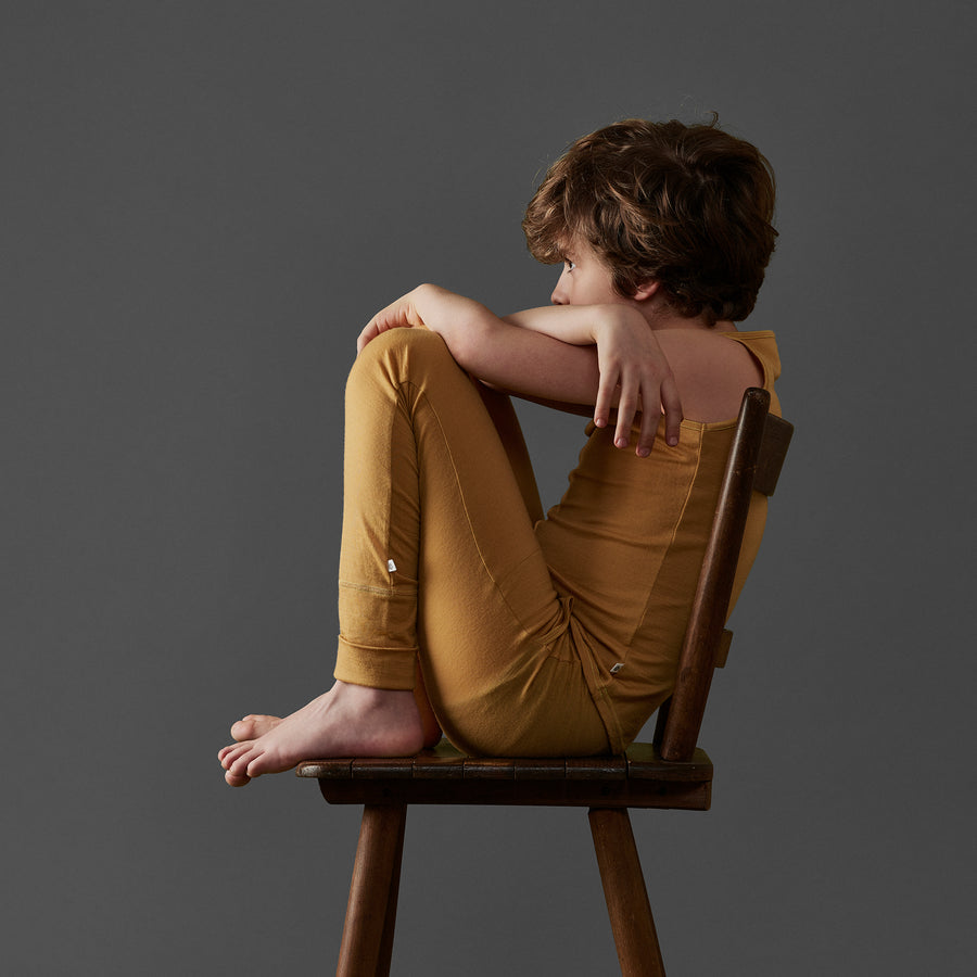 The 24/7 Trouser in Grey Yellow