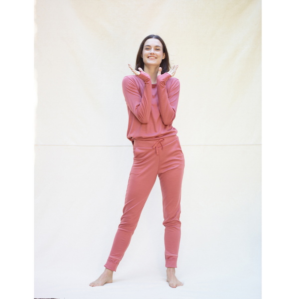 Ever24-7 Trouser Rose Fudge 190 lightweight