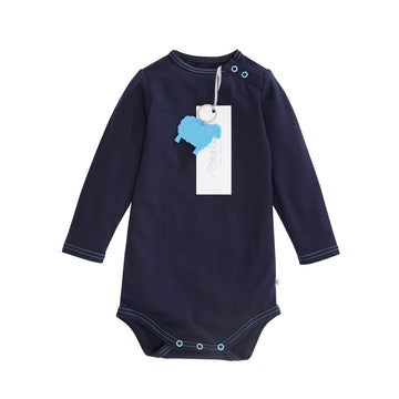 Aroha Baby Bodysuit in French Navy