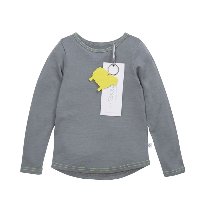 The Best Long Sleeve Tee in Grey Yellow