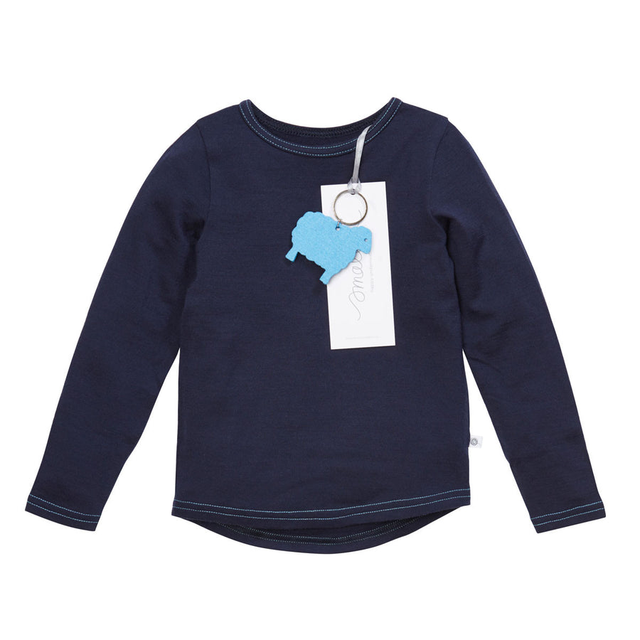 The Best Long Sleeve Tee in French Navy