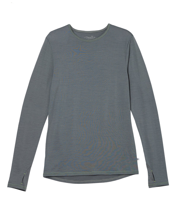 Mens EverLong 190g Merino Tee - Fog Grey
