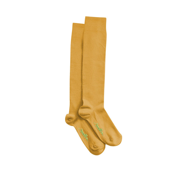 The Softest Merino Socks in Mustard