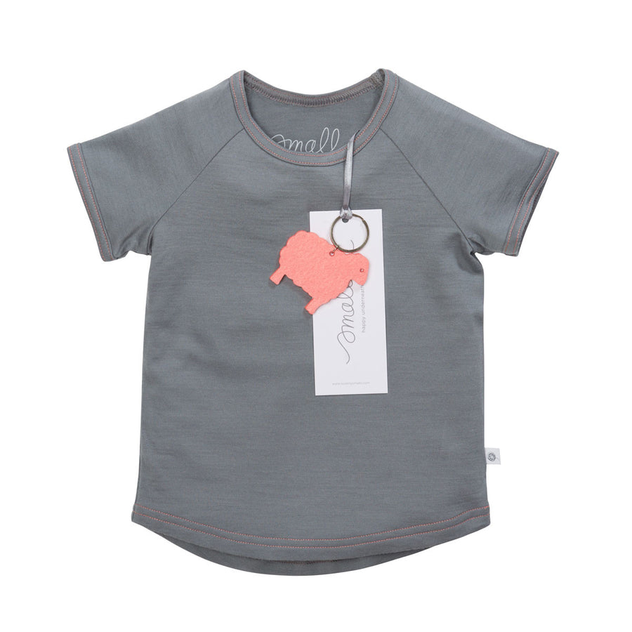 The Raglan Tee in Grey Pink