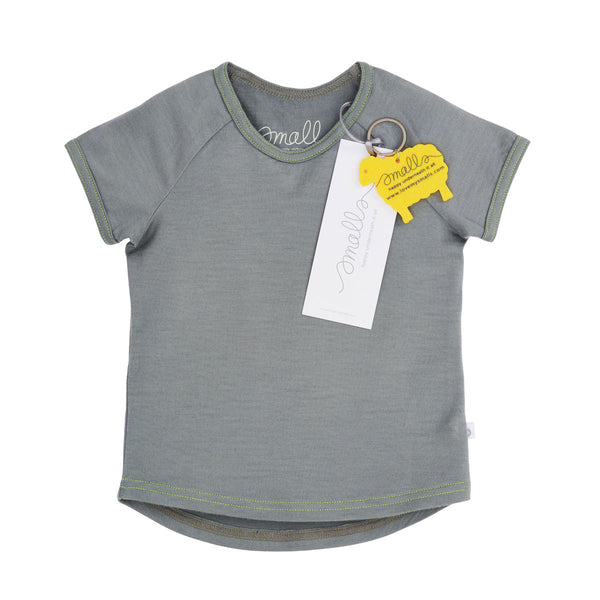 The Raglan Tee in Grey Yellow