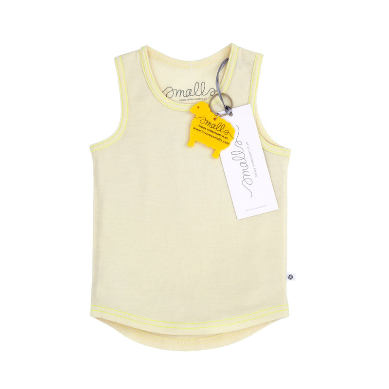 The Best Vest Top in Grey Yellow