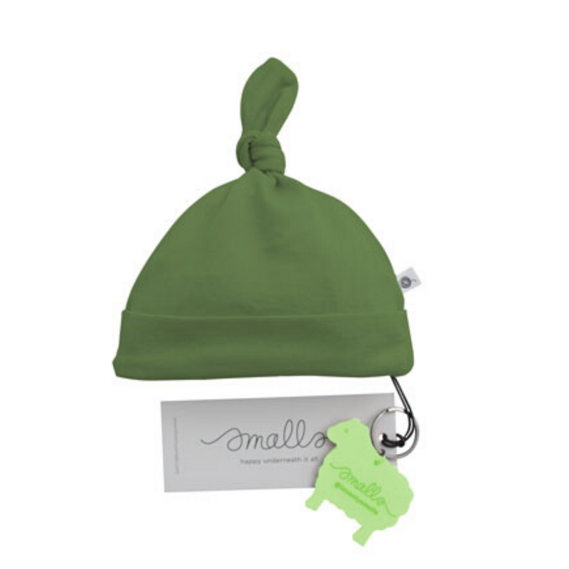 Aroha Baby Hat in Forest Green