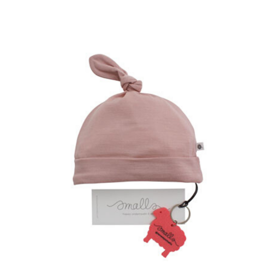 Aroha Baby Hat in Grey Pink