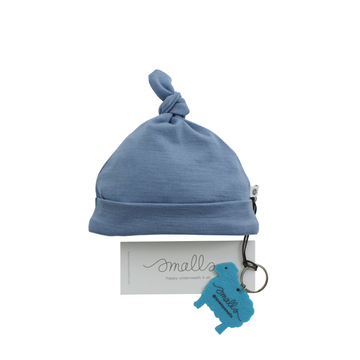 Aroha Baby Hat in Steel Blue