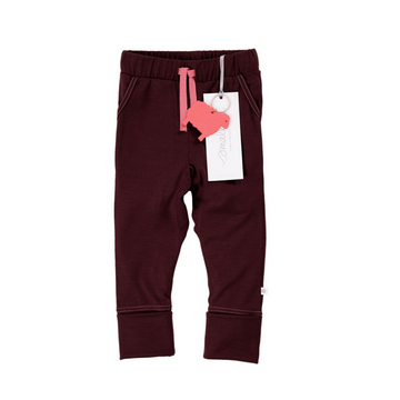 The 24/7 Trouser in Berry Marle