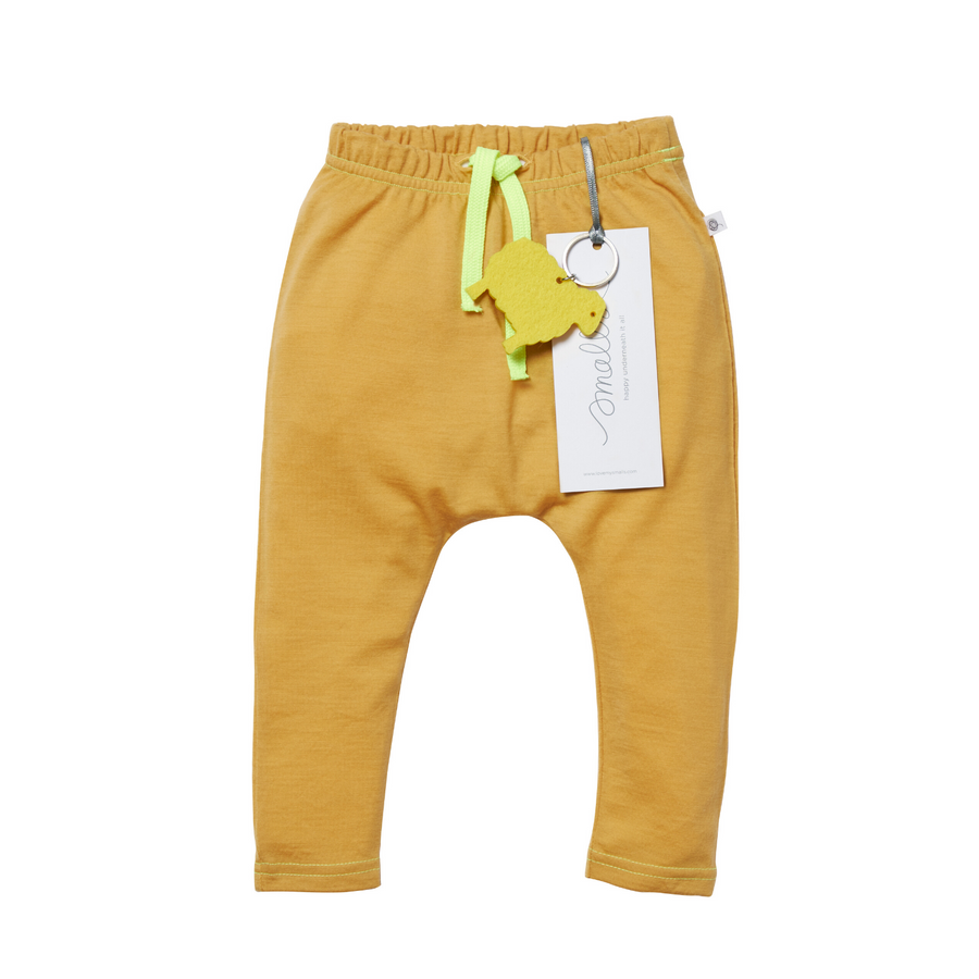 Aroha Baby 24/7 Trouser in Grey Yellow
