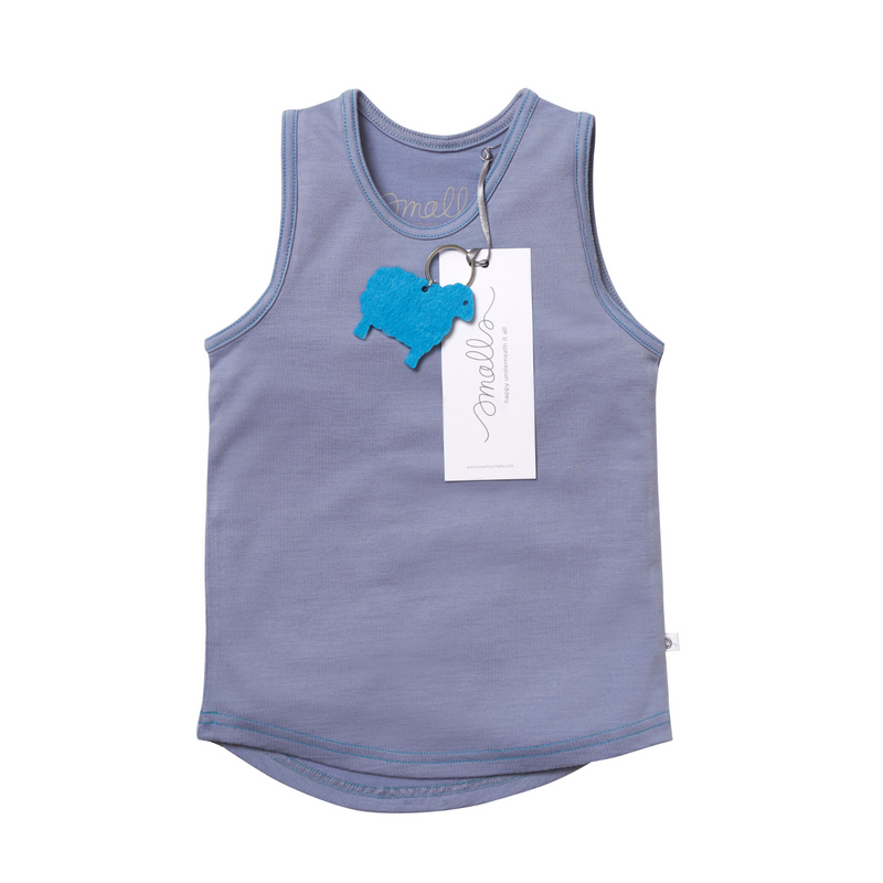 The Best Vest Top in Natural Blue