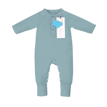 Aroha Baby Onesie in Pacific Blue