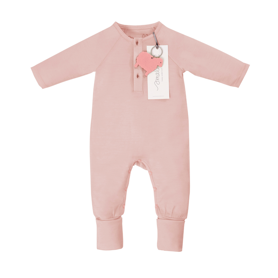 Aroha Baby Onesie in Grey Pink