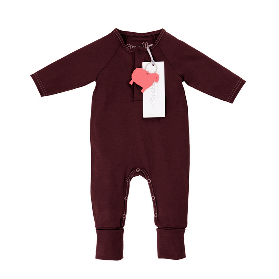 Aroha Baby Onesie in Berry Marle