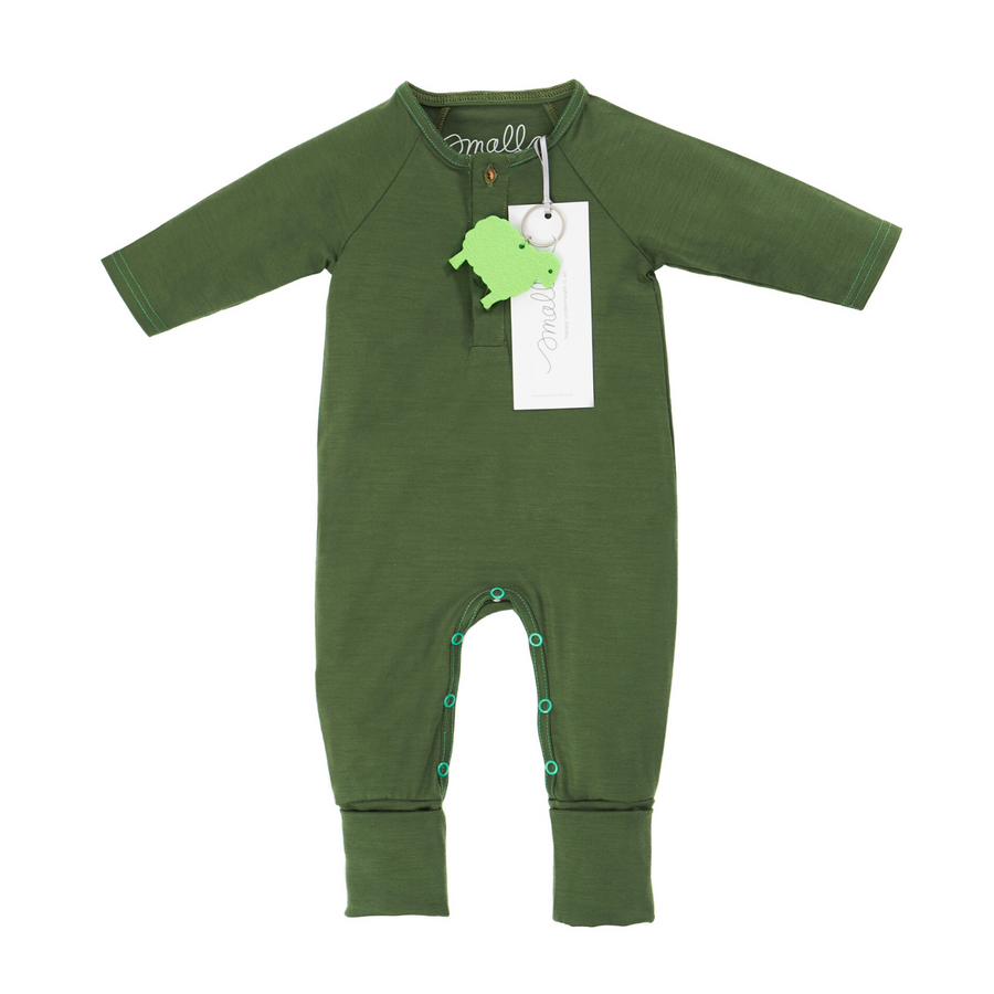 Aroha Baby Onesie in Forest Green