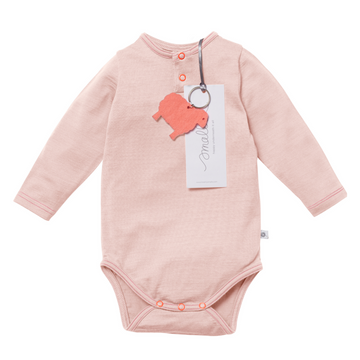 Aroha Baby Bodysuit in Misty Rose