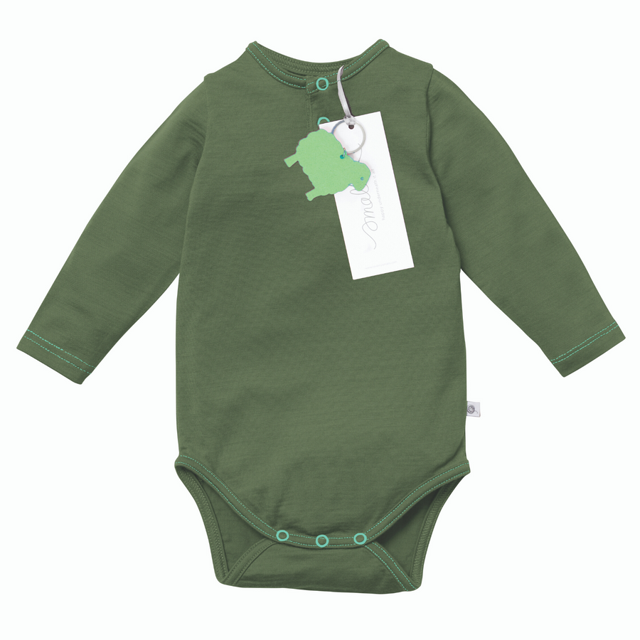 Aroha Baby Bodysuit in Steel Blue