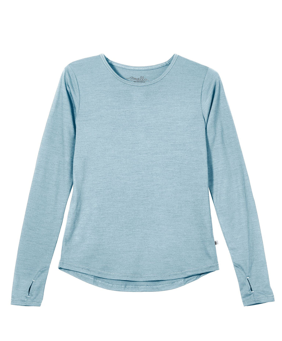 Womens' EverLong Merino Tee in 190g Italian Spun - Pacific Blue