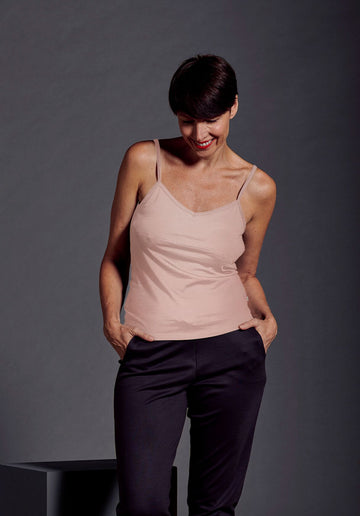 Womens EverCami in 190g Merino - Misty Rose
