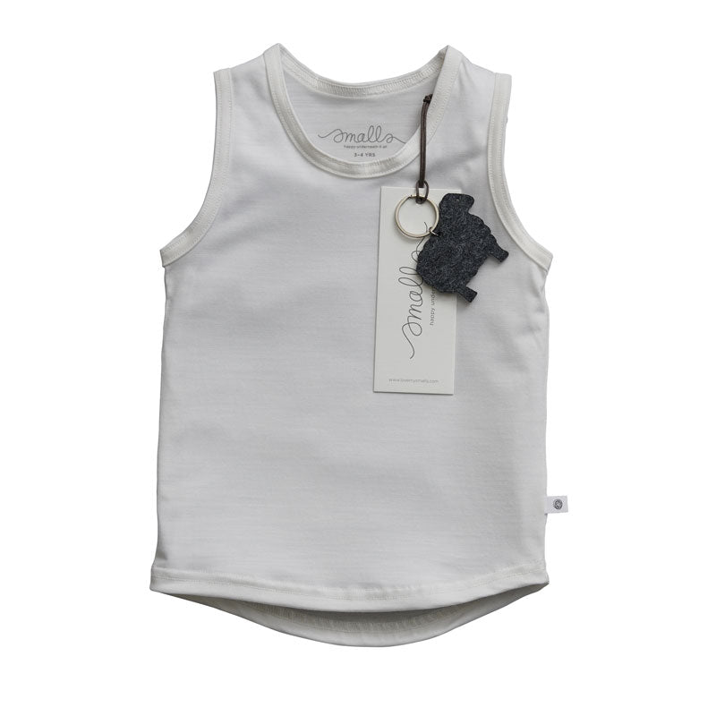 SMALLS X HARRODS exclusive Alpine White Vest Top