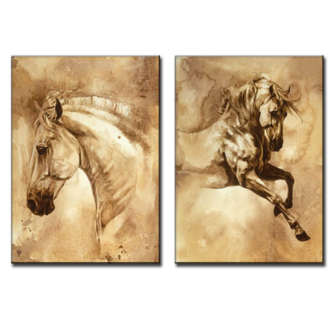 Modern Horse Canvas Wall Art 24x36""