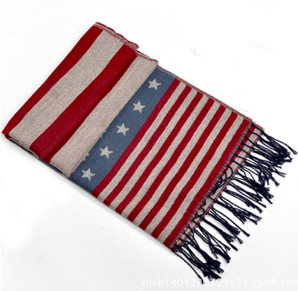 Stars and Stripes Wrap Scarf