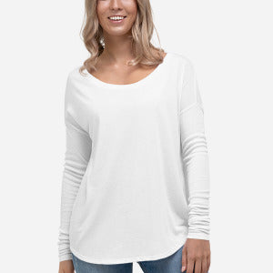 8852 Women's Flowy Long Sleeve Tee with 2x1 Sleeves - Redemption Store