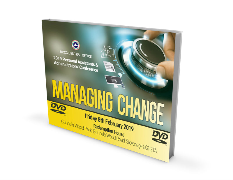 Personal  Assistants & Administrators' Conference 2019 Managing Change - DVD - Redemption Store