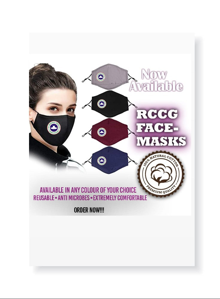 Face Masks (Branded for RCCG Churches) - PRE-ORDER ONLY