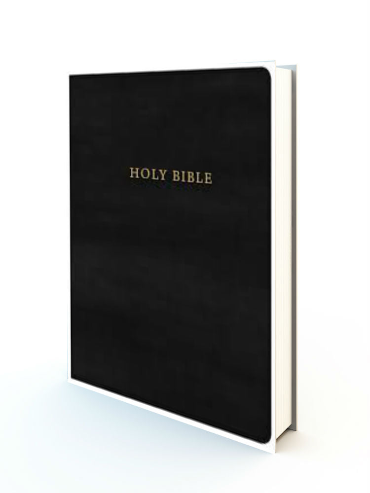 KJV Super Giant Print Reference Bible (Comfort Print)-Black Leatherflex