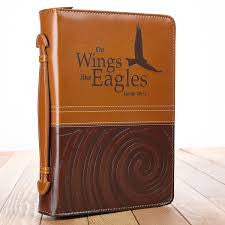 On Eagles Wings Bible Cover (Large)