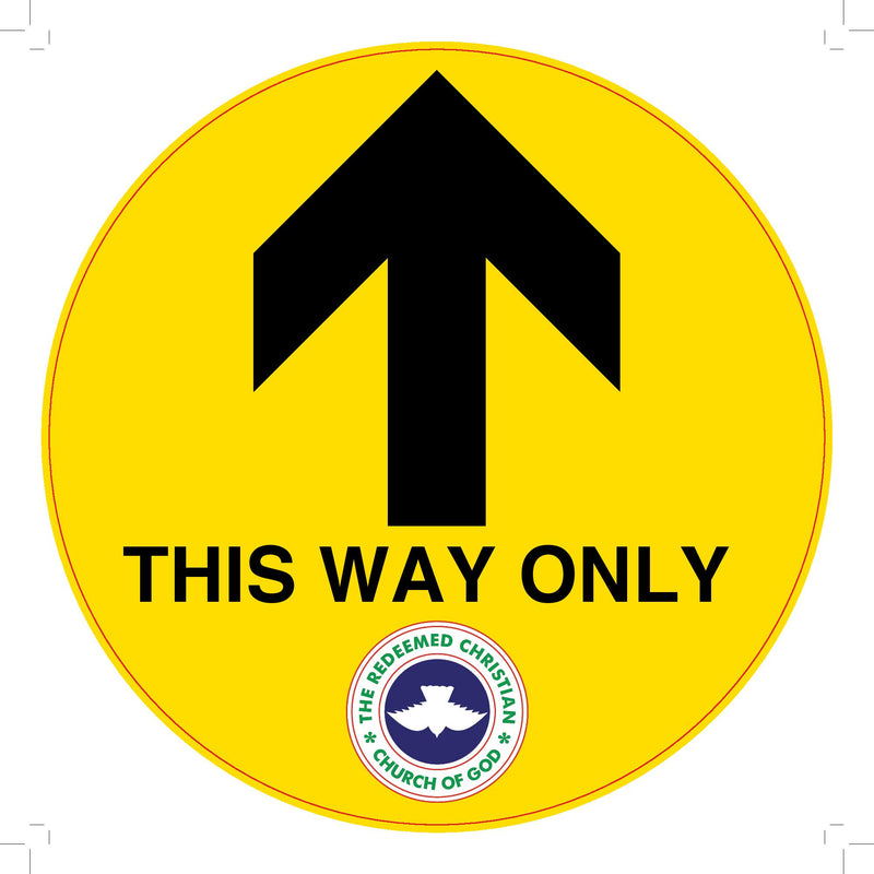 Floor Directional Sign - This Way Only -Yellow