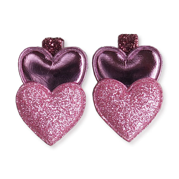 Double Heart Clips