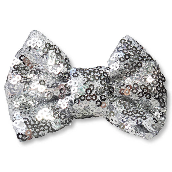 Sequin Bow Clips
