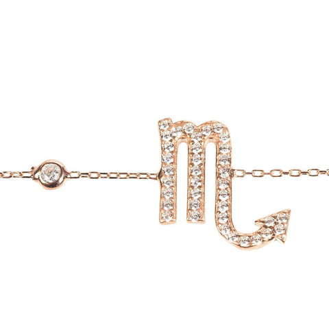 "Melinda Maria ""Structured Lobe Link"" earrings with white CZ"