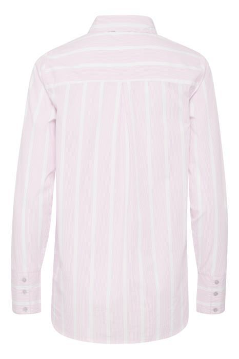Ichi Helen Pink Striped Shirt