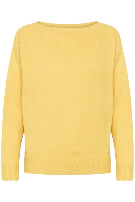 Ichi Halpa Boat Neck Sweater (Citrus)